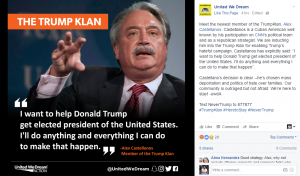 United We Dream, a pro-illegal advocacy group, regularly uses racist rhetoric to target Hispanics who do not toe the party line.